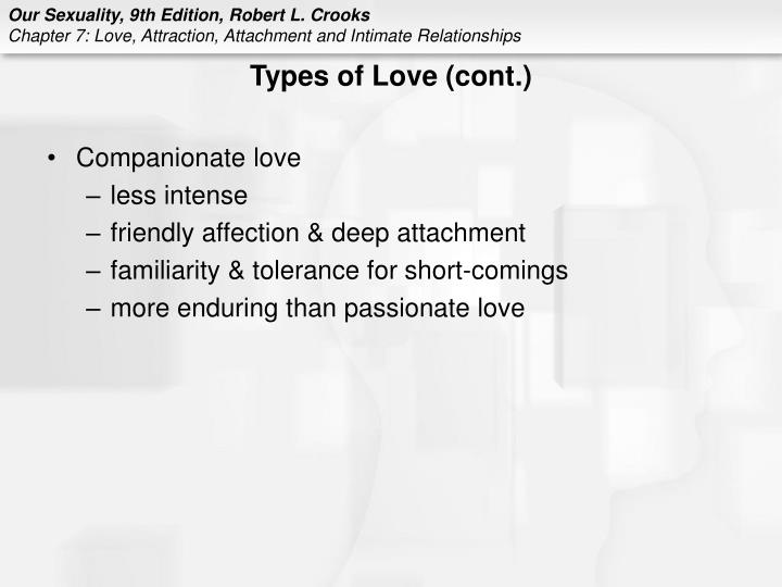 Types of Love (cont.)