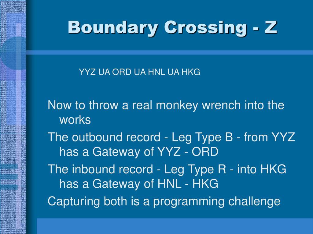 Boundary Crossing - Z