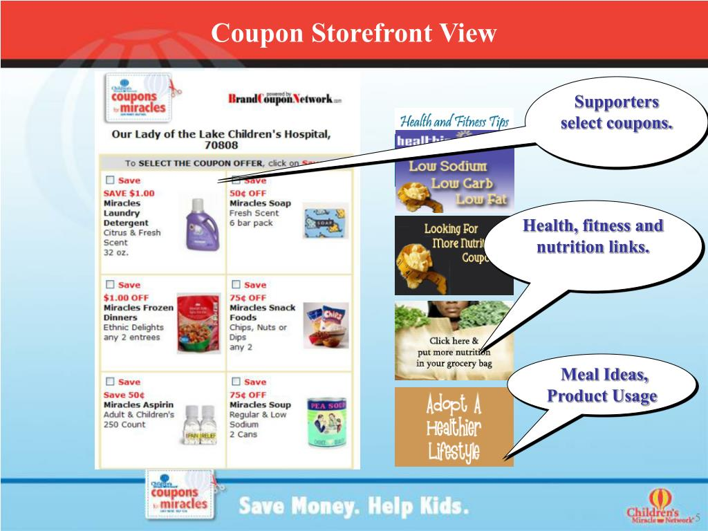Coupon Storefront View