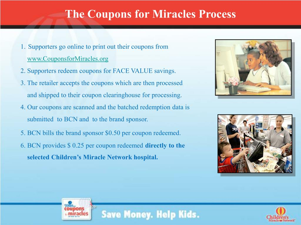 The Coupons for Miracles Process