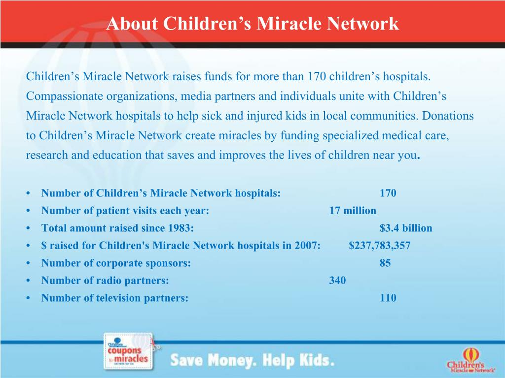 About Children's Miracle Network