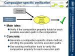 composition specific verification