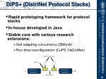 dips distrinet protocol stacks
