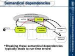 semantical dependencies