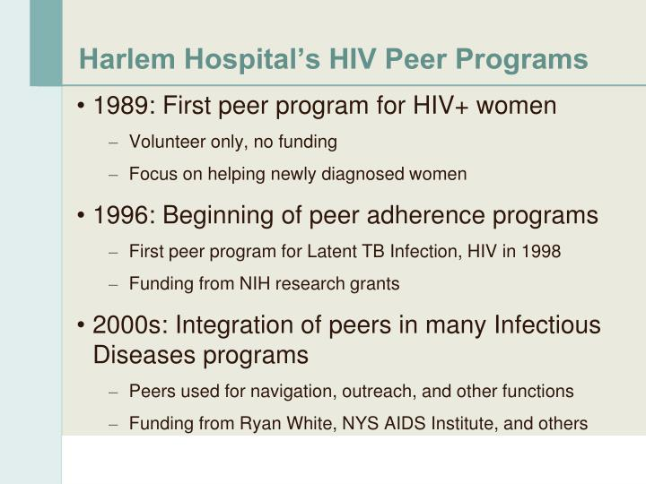 Harlem Hospital's HIV Peer Programs
