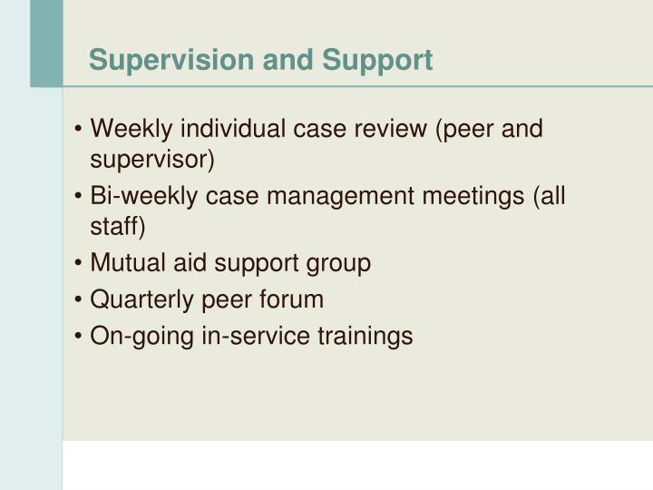 Supervision and Support