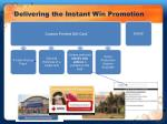 delivering the instant win promotion