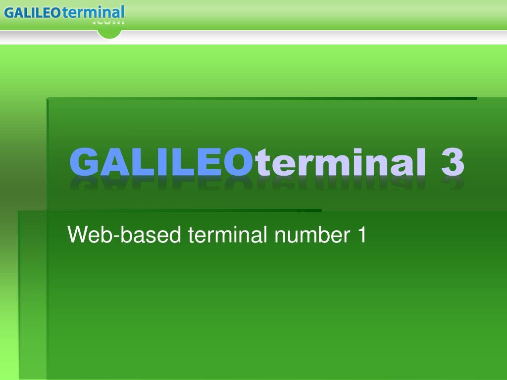 galileo terminal 3 l.