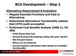 bca development step 2