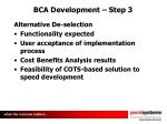 bca development step 3