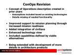 conops revision
