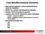 cost benefits analysis elements