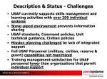 description status challenges