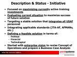 description status initiative