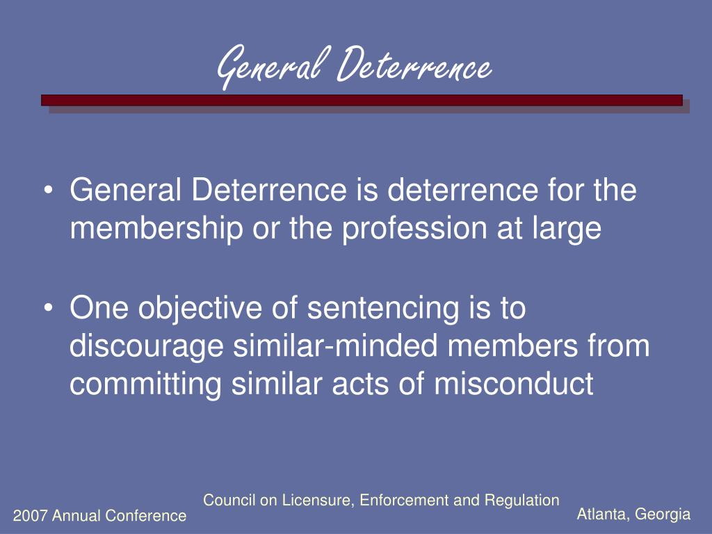 General Deterrence