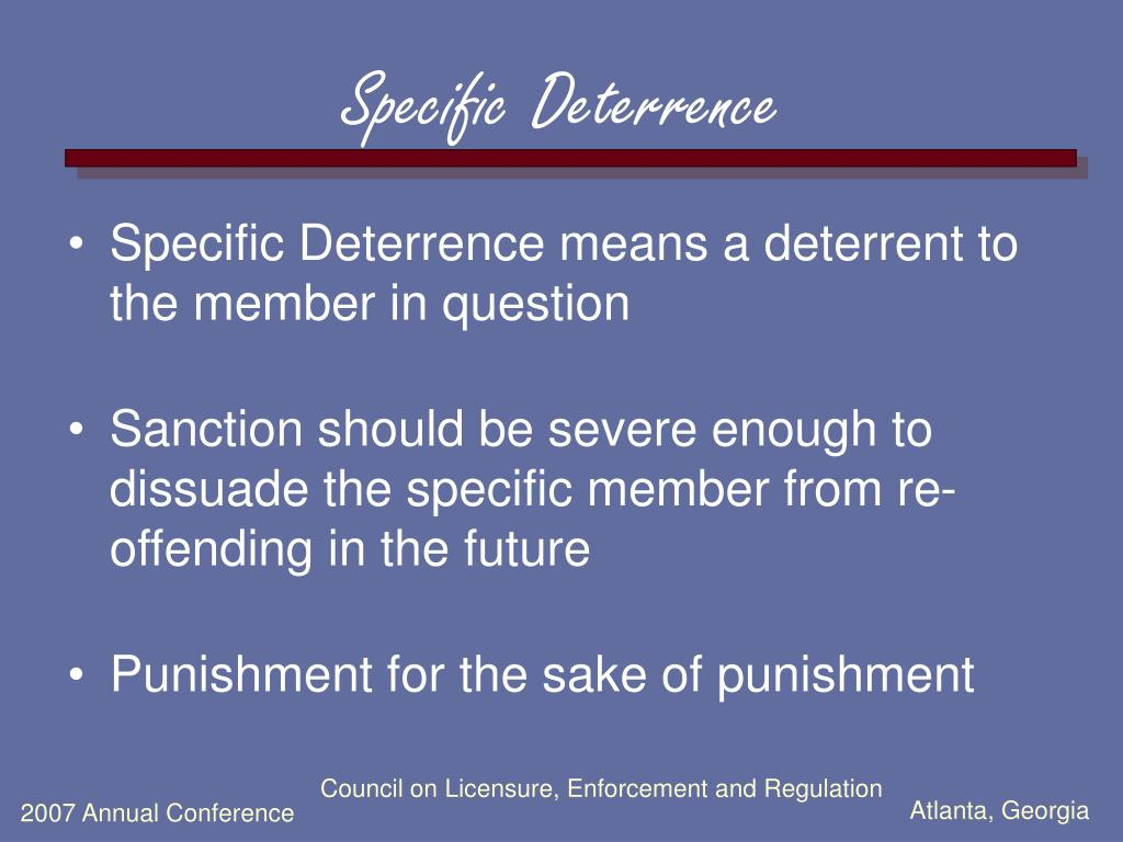 Specific Deterrence