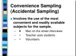 convenience sampling accidental sampling