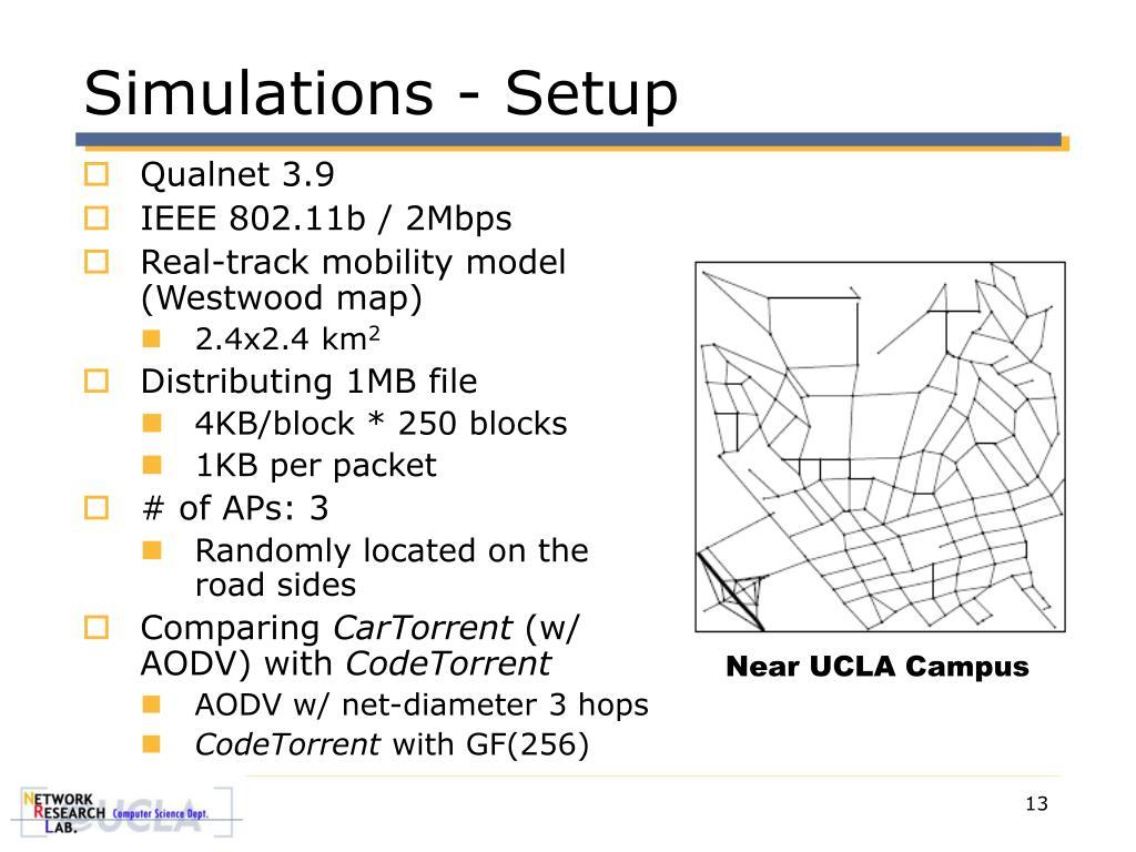 Simulations - Setup