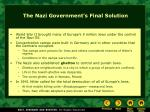 the nazi government s final solution