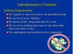 administrative controls1