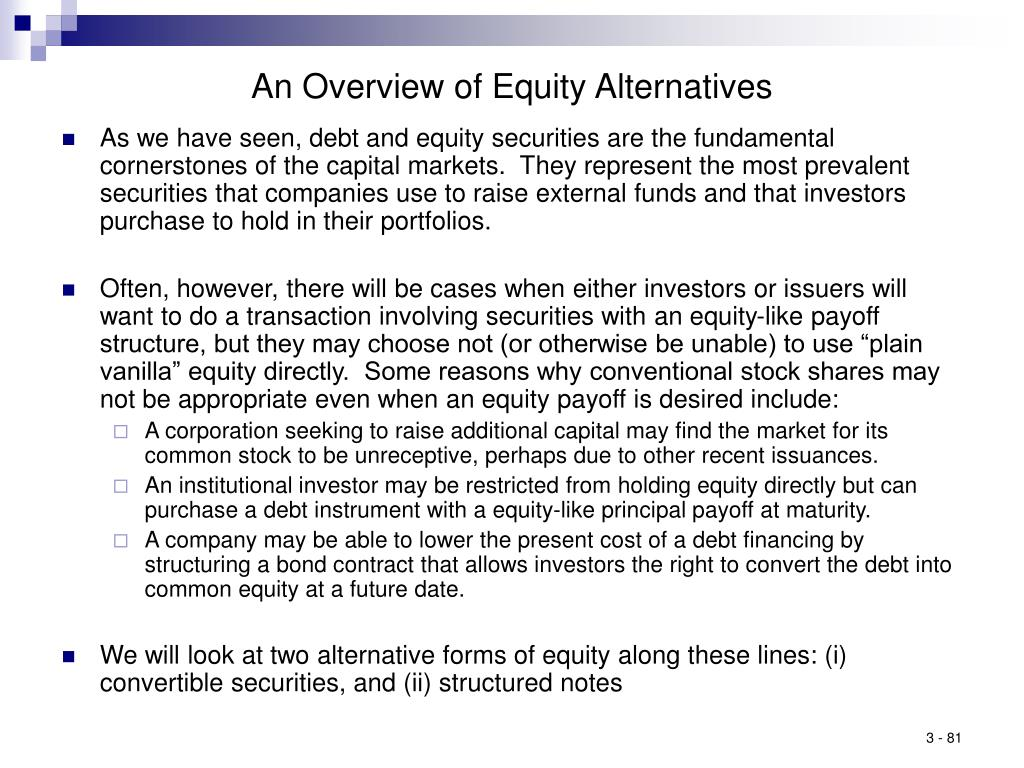 An Overview of Equity Alternatives