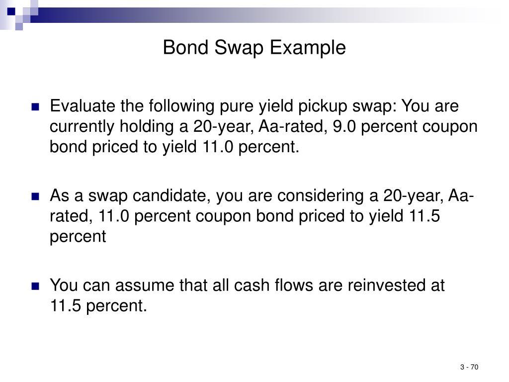 Bond Swap Example