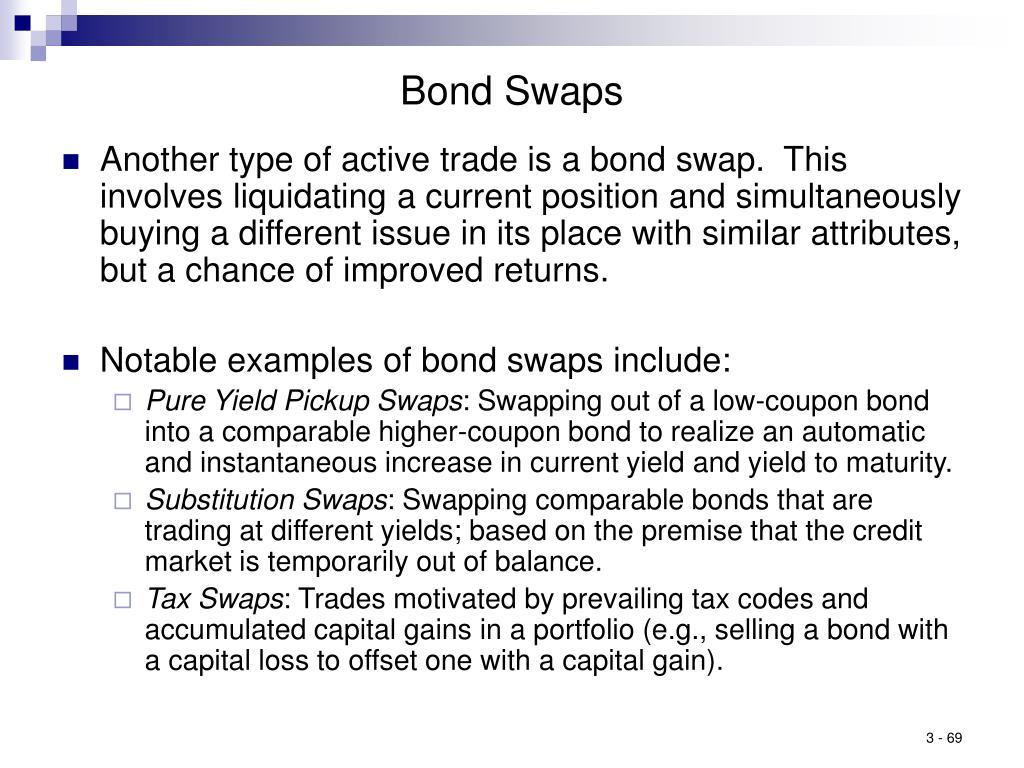 Bond Swaps