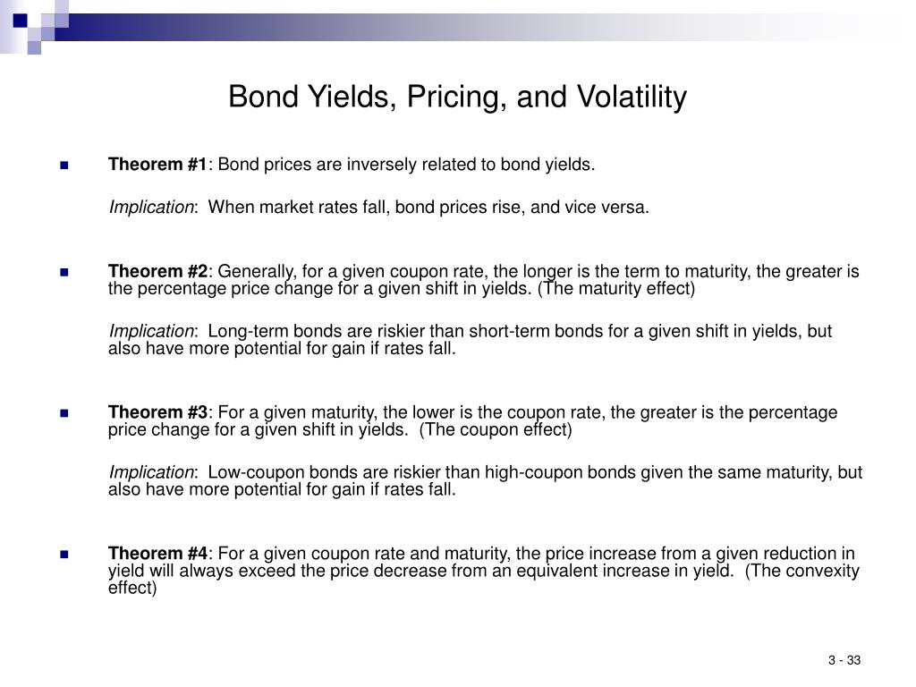 Bond Yields, Pricing, and Volatility