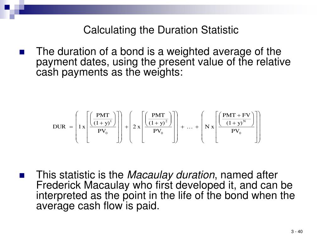 Calculating the Duration Statistic