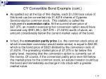 cy convertible bond example cont86