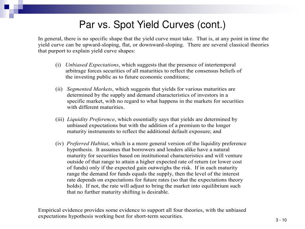 Par vs. Spot Yield Curves (cont.)