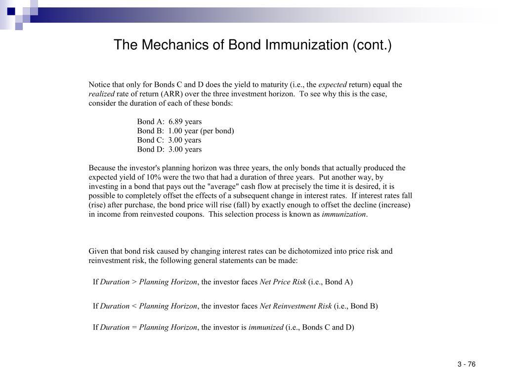 The Mechanics of Bond Immunization (cont.)