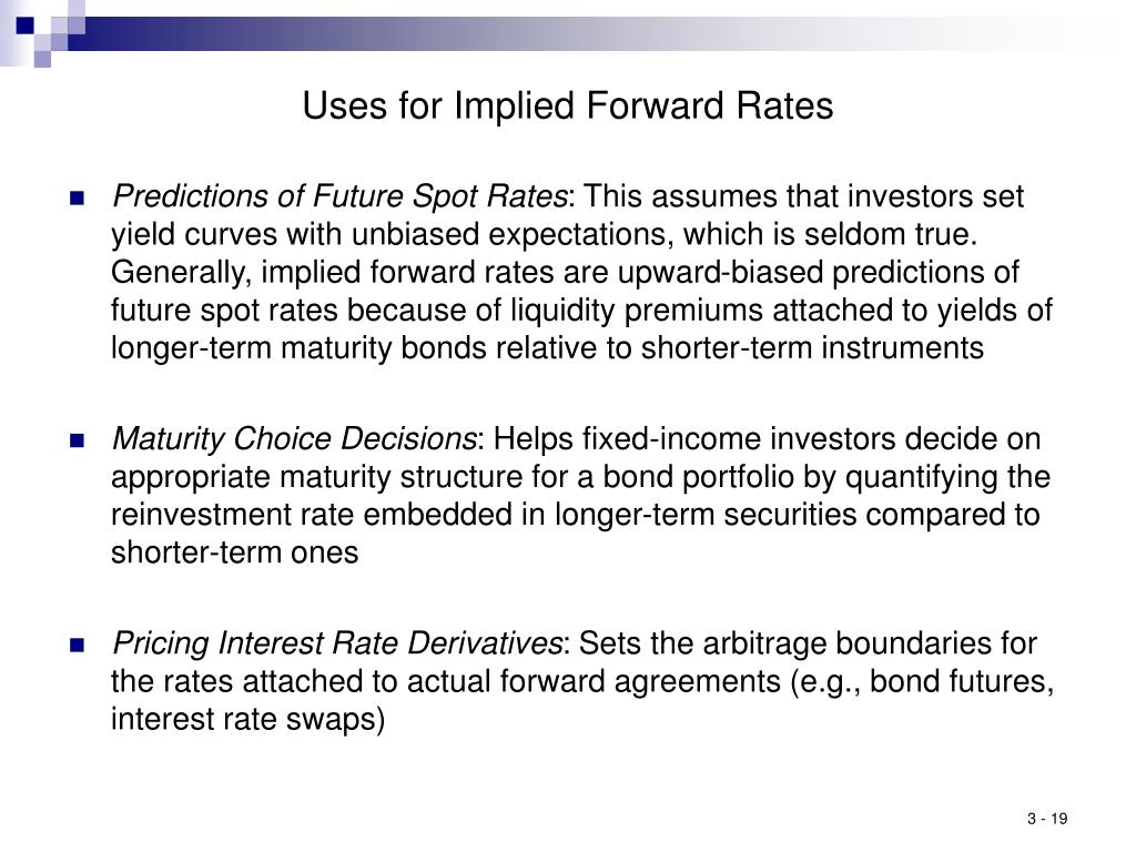 Uses for Implied Forward Rates