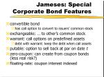jameses special corporate bond features
