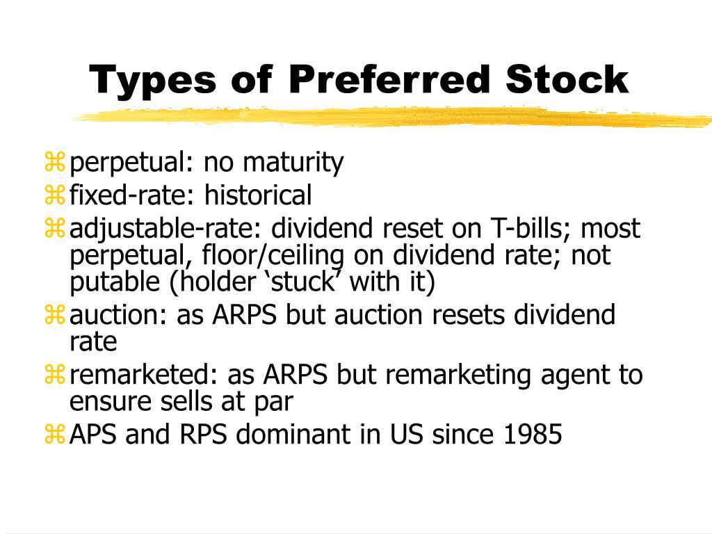 Types of Preferred Stock