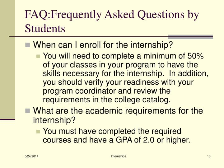 FAQ:Frequently Asked Questions by Students
