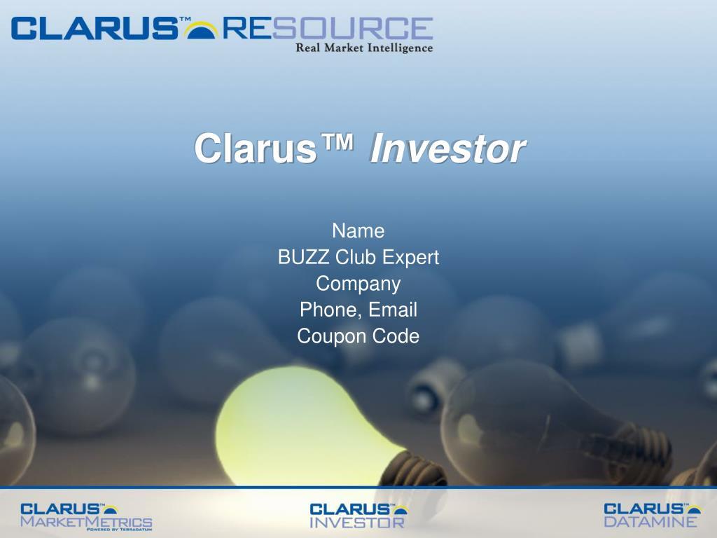 clarus investor l.
