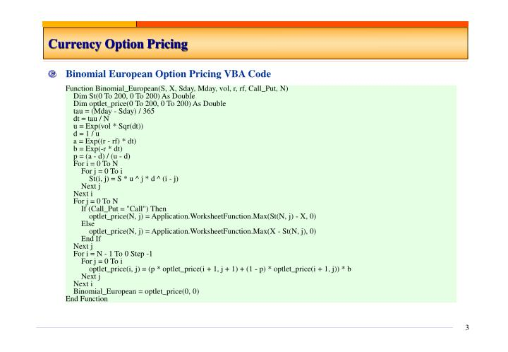 Currency option pricing3