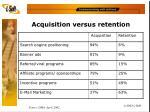 acquisition versus retention