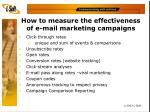 how to measure the effectiveness of e mail marketing campaigns