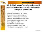 us e mail users preferred e mail marketing privacy and customer support practices