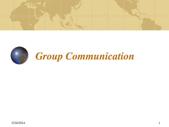define group communication Definition of group communication communication in small groups is interpersonal communication within groups of between 3 and 20 individuals groups generally work in a context that is both relational and social.