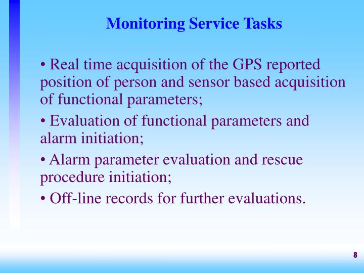 Monitoring Service Tasks