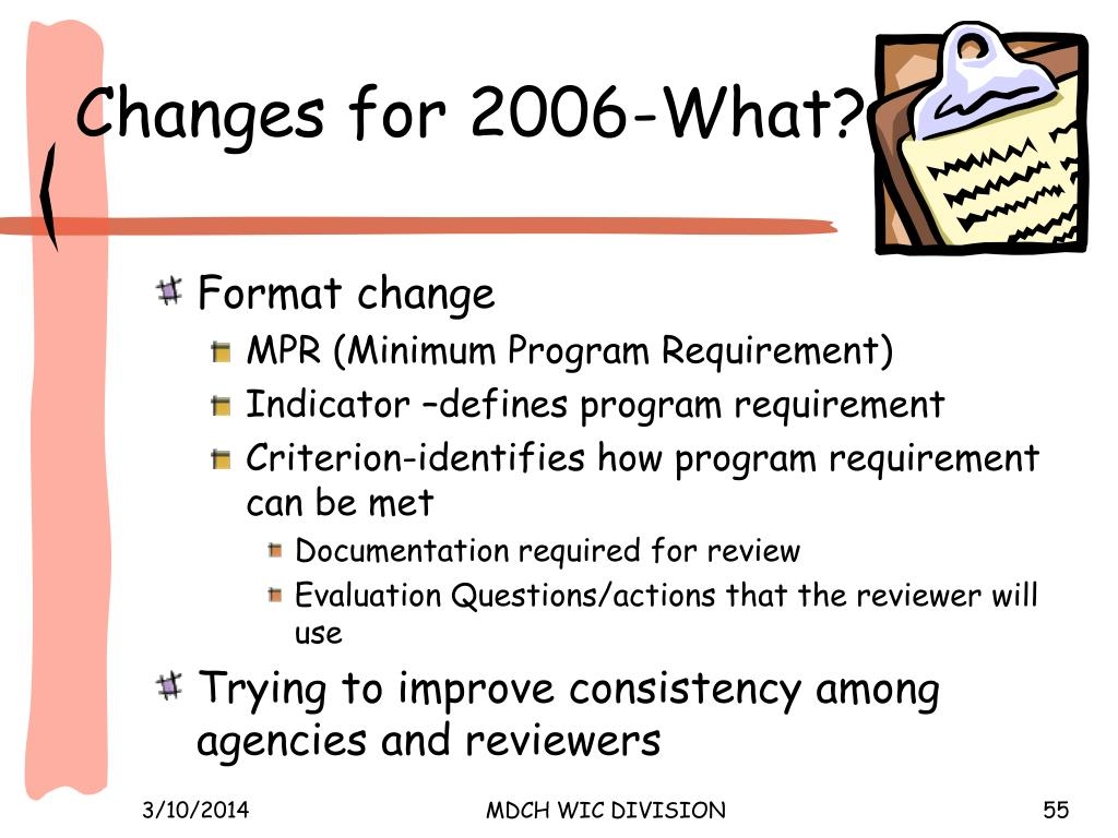 Changes for 2006-What?