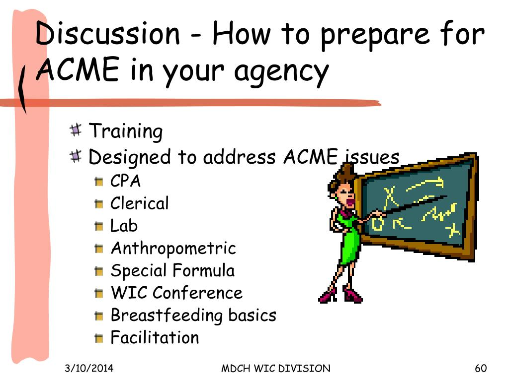 Discussion - How to prepare for ACME in your agency