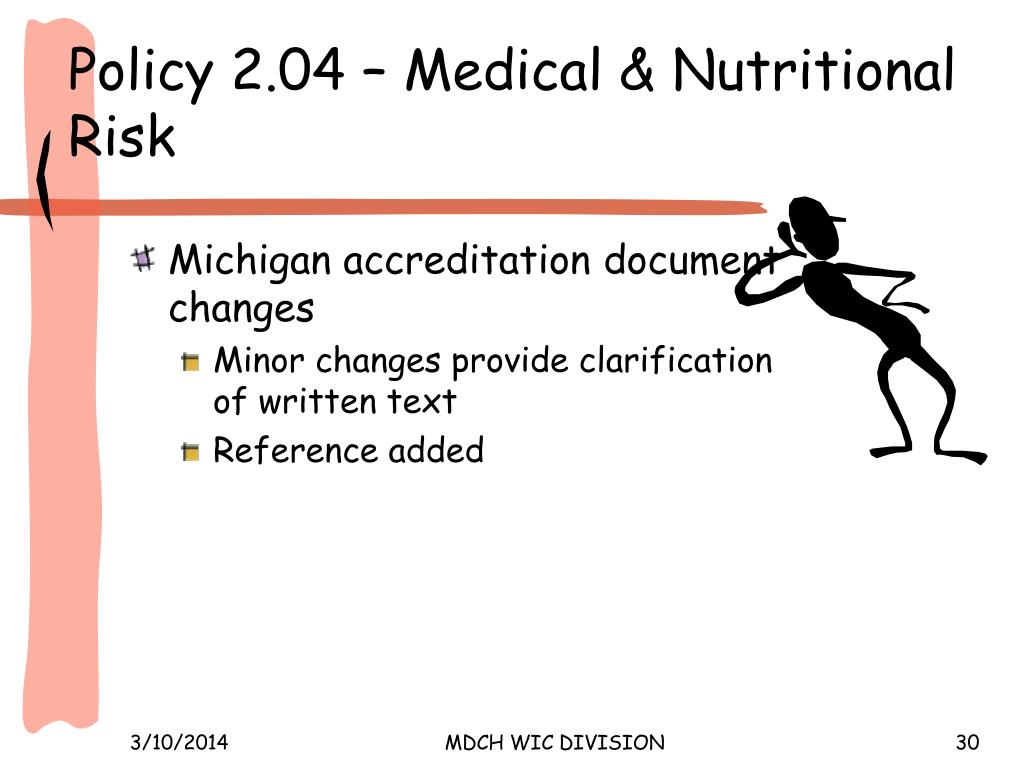 Policy 2.04 – Medical & Nutritional Risk