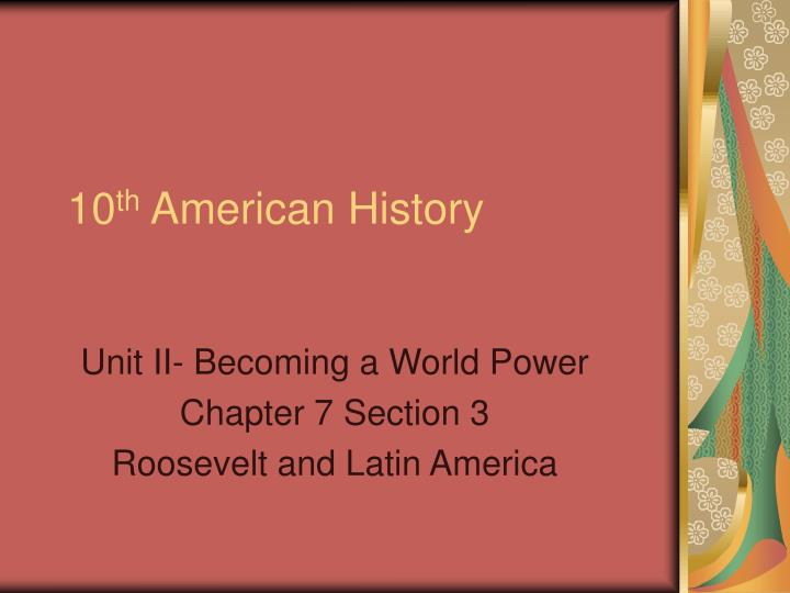 ppt 10 th american history powerpoint presentation id 819785