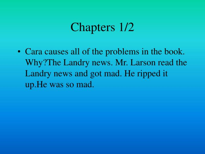 Chapters 1/2
