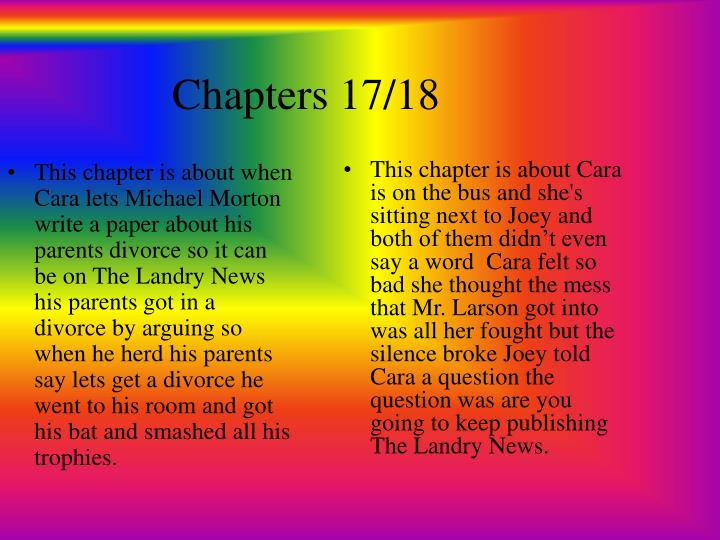Chapters 17/18