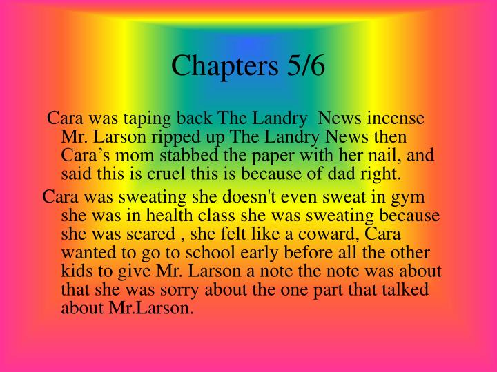 Chapters 5/6